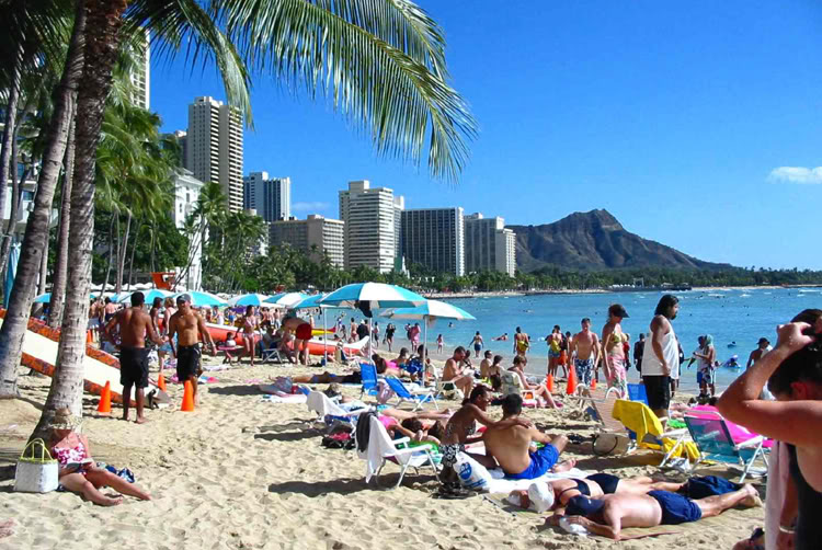 Waikiki Beach On Oahu Is The Most Popular Beach